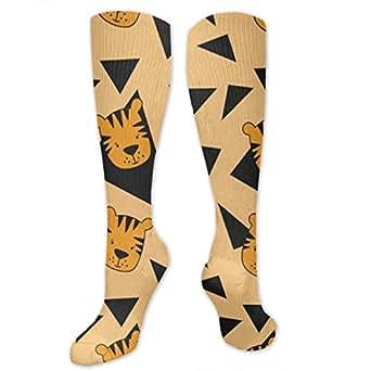 Small Eyes Cute Cartoon Tiger Compression Socks For Women