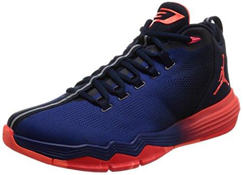 Nike Men Jordan Cp3.Ix Ae Basketball Shoes Black (Obsidian / Infrared 23-deep Royal Blue)