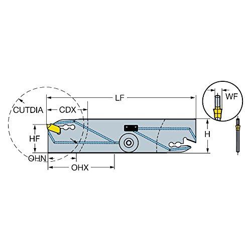 Right Hand Cut with Coolant 90 Deg Cutting Edge Angle Steel Coating Right Hand Cut 0 Cutting Angle Flute Sandvik Coromant QD-NR2C13C21D Steel Corocut QD Blade for Parting