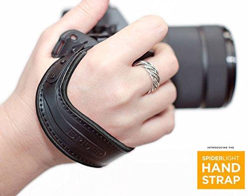Spider Light Hand Strap, Handschlaufe für spiegellose Systemkameras und leichte DSLRs, schwarz