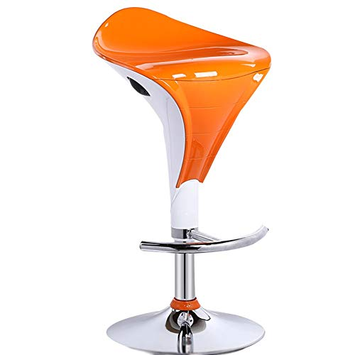 - WEIYV- Chairs, Bar Counter Lifting Bar Modern Simple High Stool Creative Bar Stool Household High Stool Barstool (Color : Orange Plate, Size : 57-79cm)