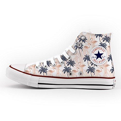 La Main À All Star Chaussures Et Palmiers Personnalisé Imprimés Converse 6W08qZwZR