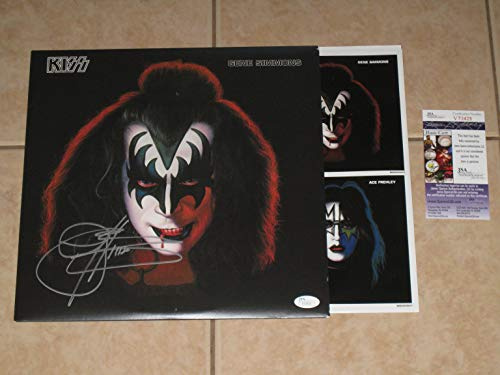 (Gene Simmons signed KISS 1978 Solo Album 2014 Reissue LP Record Vinyl JSA COA)