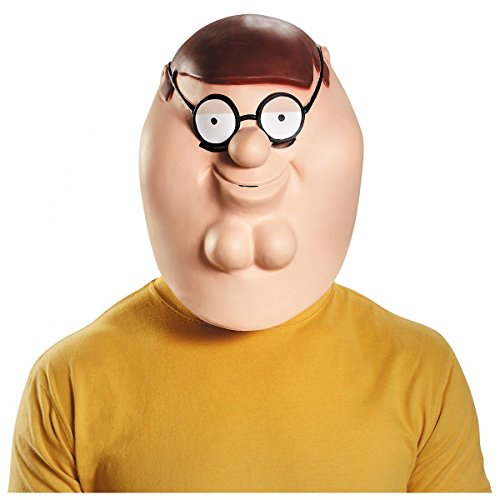 [Deluxe Peter Mask Costume Mask Adult Family Guy Halloween] (Hot Halloween Costumes For Guys)