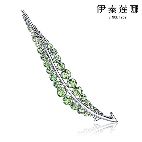 Italina jewelry leaf brooch upscale women girls Austrian crystal brooch pin genuine