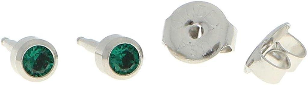 en acier chirurgical Boucles doreilles st/érile avec pierre premier