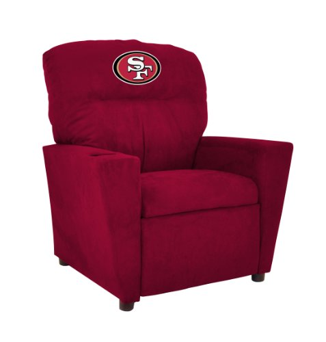 Imperial Officially Licensed NFL Furniture: Youth Microfiber Recliner, San Francisco 49ers