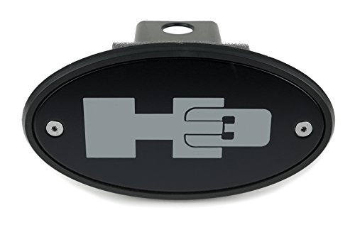 High-End Motorsports Hummer H3 Black Receiver Hitch Cover Quality - Grey Logo