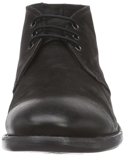 Mentor Noir Black Boots Boot Desert Leather Desert Washed Homme O7rO4Zx