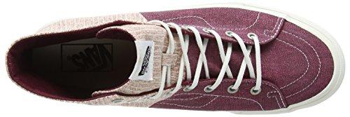 Vans Sk8-hi Decon SPT, Sneakers Basses Mixte Adulte Noir - Black (Stripes - Washed/Tawny Port)