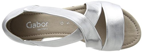 Gabor Comfort Bout Silber Sandales Femme Ouvert Argent Jute Shoes r5CPr