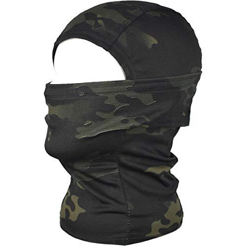 QHIU Tactique Masque Cagoules Ninja Capuche Camouflage Visage Protection Sport en Plein Air Extérieur Armée Cyclisme… 2
