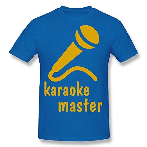 Hot Sale T Shirt Microphones Unique Printed Short Sleeve T-shirt RoyalBlue - Jersey Shore Outlets Sales