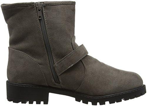 New Look Women's Wide Foot Biker Ankle Boots Grey (Grey/04) ZdI4vtR