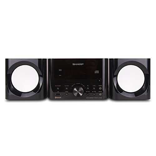 Sharp XL-LS703B-GB Sharp Bluetooth Speaker System (Gloss Black), USB Port for MP3 Playback, Bluetooth Wireless Connection, One Touch with NFC Connection, 50W RMS Power Output, Remote (Best Sharp Shelf Systems)