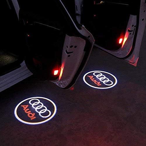Soondar 2 pcs Universal Wireless Car Projection LED Projector Door Shadow Light Welcome Light Laser Emblem Logo Lamps Kit Cadillac No Drilling
