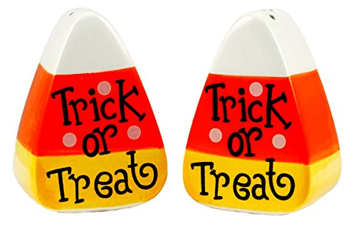 Trick or Treat Candy Corn Salt & Pepper Shaker Set