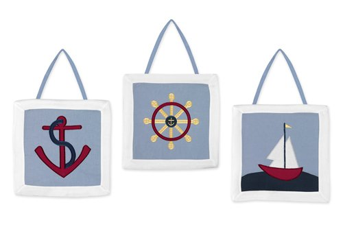 Sweet Jojo Designs Wall Hanging, Come Sail Away