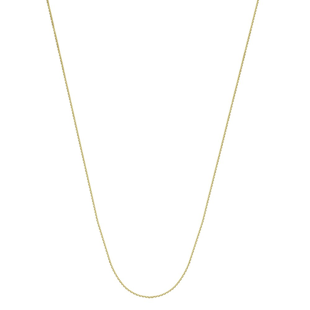 10kt Yellow Gold Pendant Chain Necklace 0.65mm