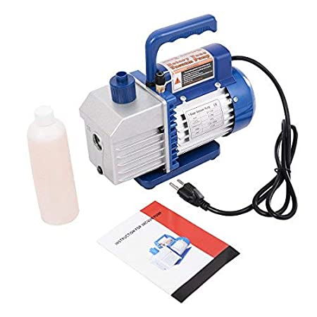 Single Stage 4CFM Goplus Vacuum Pump 1//3HP Rotary Vane Deep Refrigerant R410a R134a HVAC AC Air Tool with 1//4 Flare Inlet Port