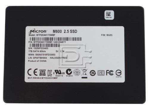 Micron M600 1TB SSD Solid State Drive SATA 6Gb/s MTFDDAK1T0MBF-1AN1ZABYY - Micron 1tb Ssd