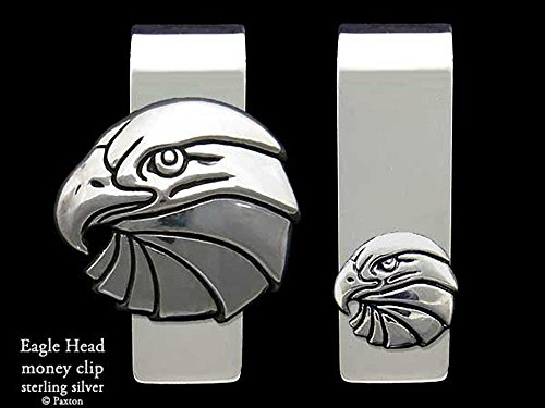 Eagle Head Money Clip in Solid Sterling Silver Hand Carved, Cast & Fabricated by Paxton by Paxton Jewelry