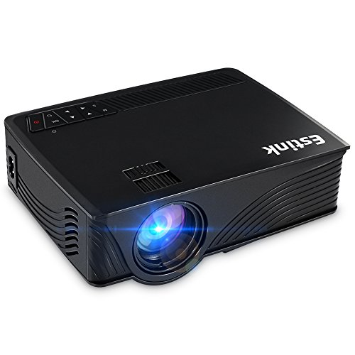 Mini Projector, Portable LED Projector Support 1200 Lumens Full HD 1080P Multimedia Projector USB/SD/AV/HDMI Input for Video Movie Games Party Home Entertainment-Black