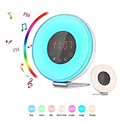 SMARTRO Alarm Clock for Heavy Sleepers & Kids with Sunrise Sunset Simulation FM Radio