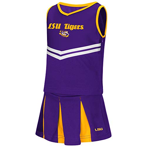 Baby Lsu Football Costumes - Colosseum NCAA Toddler-Girls Team Cheer Set-LSU