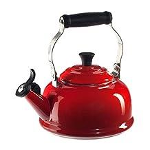 Le Creuset Enamel-on-Steel Whistling 1-4/5-Quart Teakettle (Cherry Red)