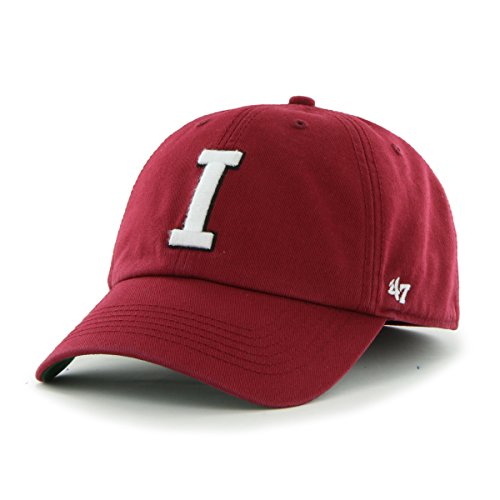 NCAA Indiana Hoosiers Franchise Fitted Hat, Large, Dark Red