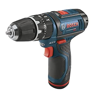 Bosch PS130-2A 12-Volt Lithium-Ion Ultra-Compact Hammer Drill/Driver Kit, 3/8-Inch