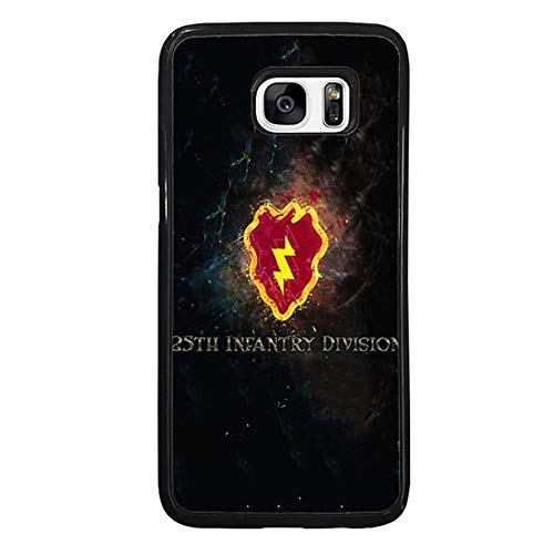 Skinsends U. S. A. Tropic Lightning - 25th Infantry Division Protective Shell Compatible with Samsung Galaxy S7 Edge, U. S. Army Hard Plastic Phone Case Compatible with Samsung S7 Edge -