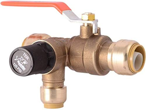 SharkBite 25704LF Thermal Expansion Relief Valve, 3/4 in. x 1/2 in, Copper, PEX, CPVC, PE-RT, HDPE