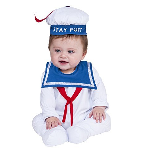 Rubie's Baby Ghostbusters Classic Stay Puft Costume Romper, As Shown, 6-12]()
