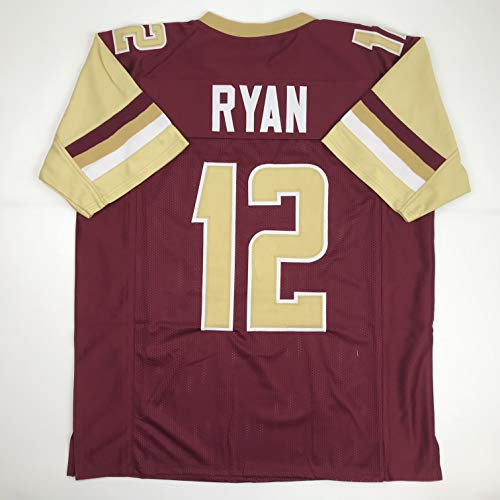 Unsigned Matt Ryan Boston College Maroon College Custom Stitched Football Jersey Size Men's XL New No Brands/Logos