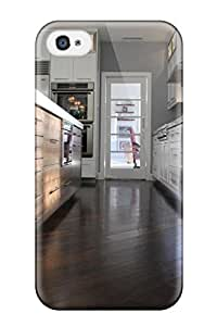Durable Protector Case Cover With Dark Hardwood Floors With White Cabinets In Kitchen Hot Design For Iphone 4/4s