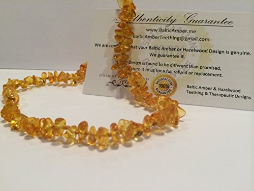12.5 Inch Baltic Essentials Amber Teething Necklace for Babies (Unisex) - Anti Flammatory, Drooling & Teething...