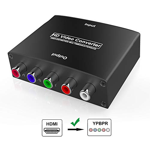 (HDMI to YPbPr Converter, Wenter 1080P HDMI to Component Converter with HD Video, Support PS3, DVD, Xbox 360 to HDTV and)