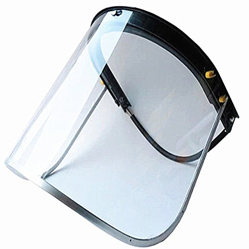All Aluminum Bracket Protective Mask Head-mounted Clear Welding Helmet Safety Headgear Face Shield Face Protector Suitable for Most Helmet DHMZ04