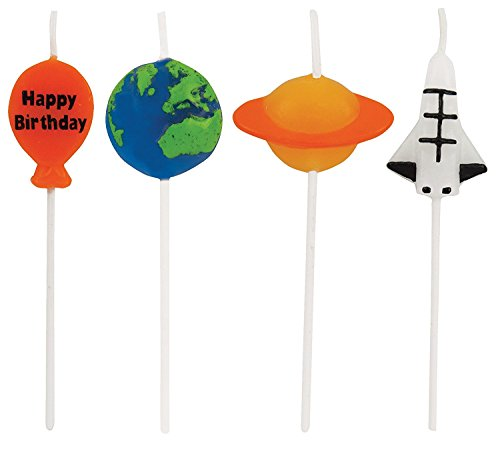 Creative Converting 4 Count Molded Pick Sets Birthday Cake Candles, Multicolor (Value 3-Pack) by Creative Converting