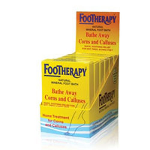 FooTherapy Natural Mineral Foot Bath, Soothing Relief For Tired, Sore Feet, 3 packets (Pack of 2)