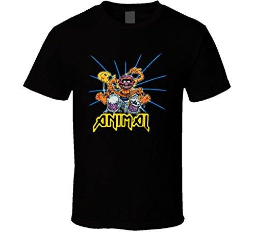 Animal Muppets Drummer Rock T Shirt L Black