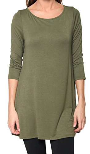 Free to Live Women's Flowy Elbow Jersey Tunic