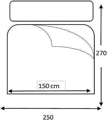 lucena cantos TLAR150 - LINEA Colcha Todo Uso, Fibra 120 gr, Réversible, Cama 150, 250x270 cm, Arena