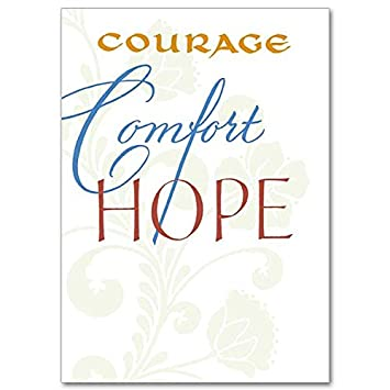 Amazon courage comfort hope words of support and courage comfort hope words of support and encouragement deluxe religious greeting card m4hsunfo