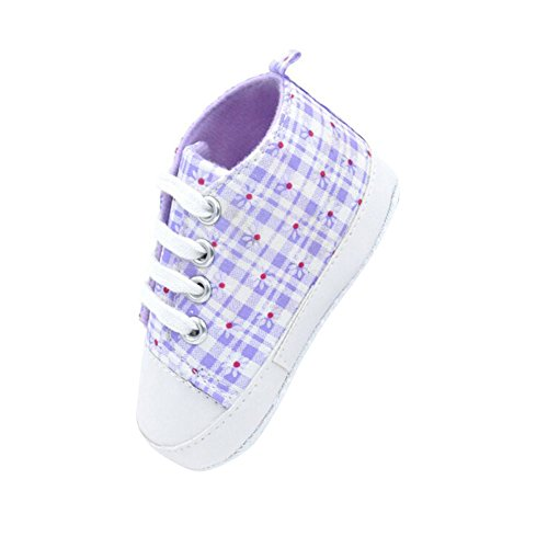ESHOO bebé niñas niños arco iris suave Prewalkers zapatos de Lienzo Casual zapatos de primera caminantes PG Talla:0-6 meses ZG
