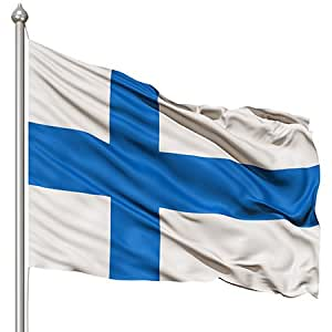 Bandera de Finlandia SUOMI Nacional poliéster 3x 5pies Wave Fi país Banner interior al aire libre cruce banderín 90cmx150cm