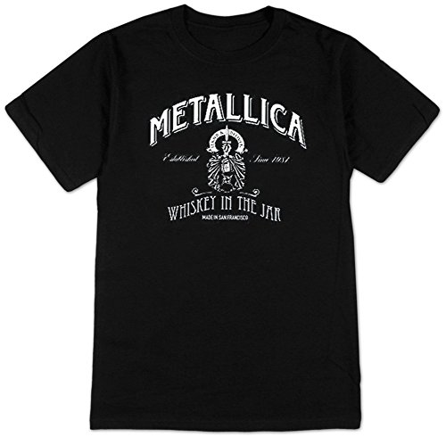 Official Metallica Whiskey Label T-Shirt - S to XXL