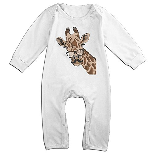 Ketchup Costume Australia (Boy & Girl Infants Giraffe Long Sleeve Climb Romper 18 Months White)